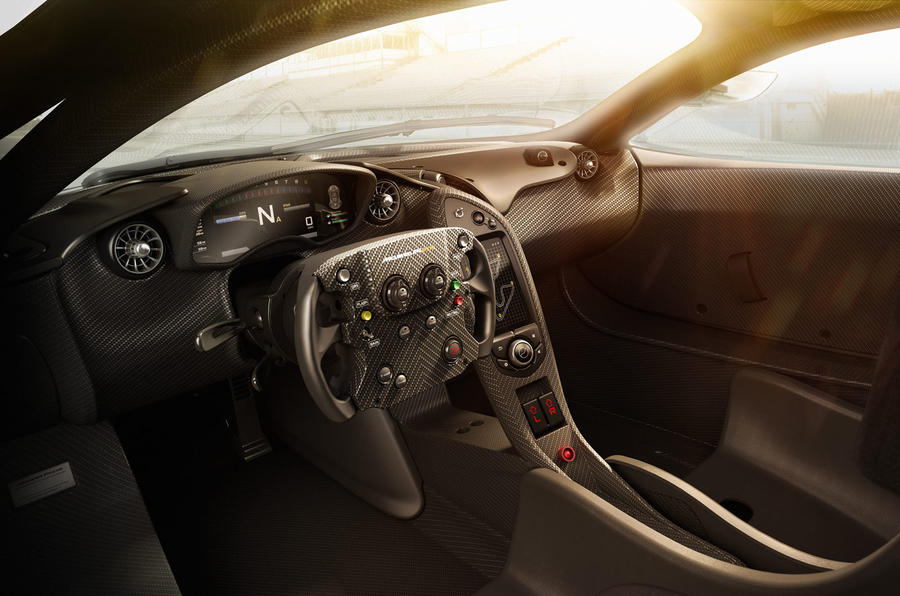 Stripped-out interior of the McLaren P1 GTR revealed