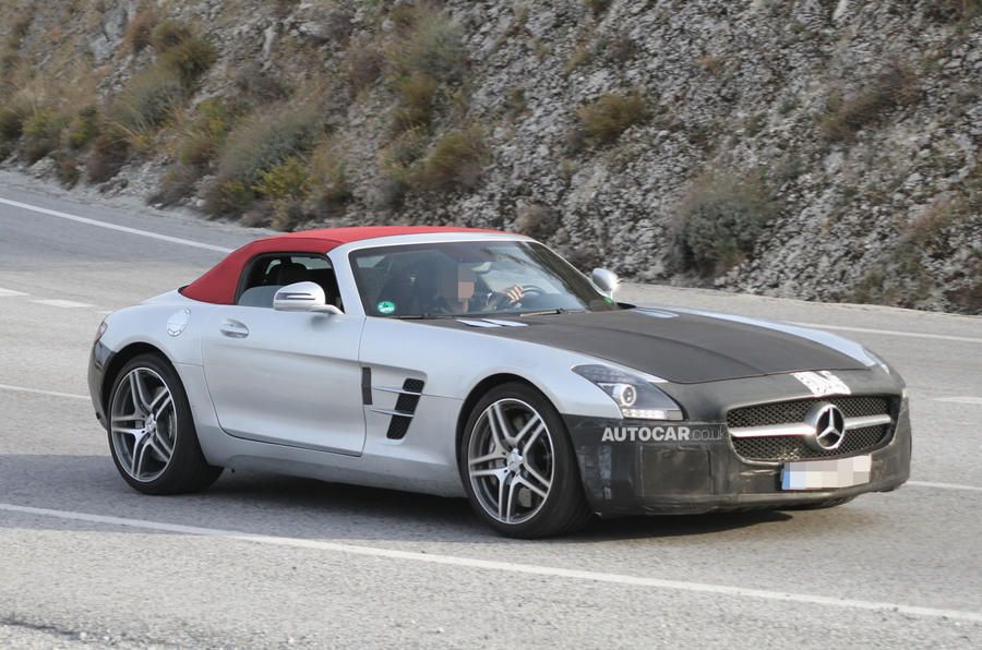 Facelifted Mercedes-Benz SLS AMG Roadster caught testing