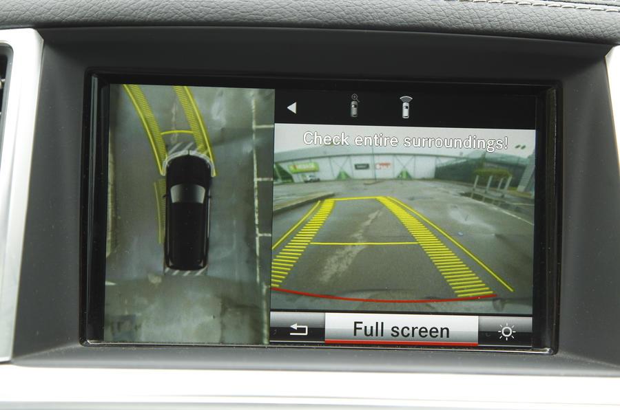 Mercedes-Benz GL infotainment screen