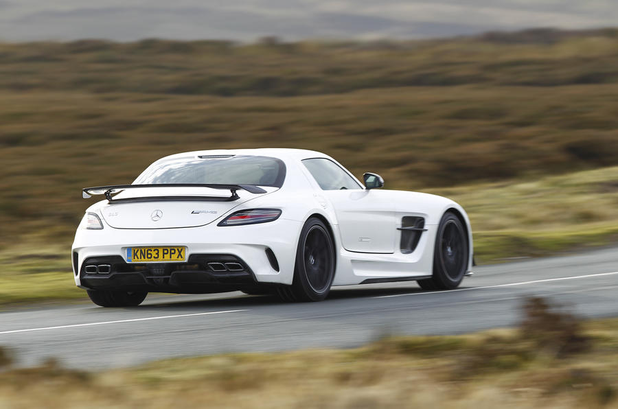 Mercedes-AMG SLS Black Series rear quarter