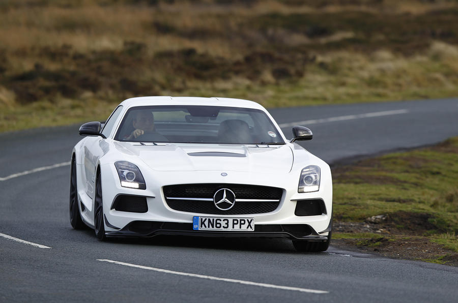 SLS Black Series front cornering