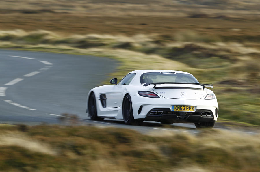 SLS Black Series rear cornering