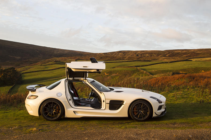 Mercedes-AMG SLS Black Edition gullwing doors