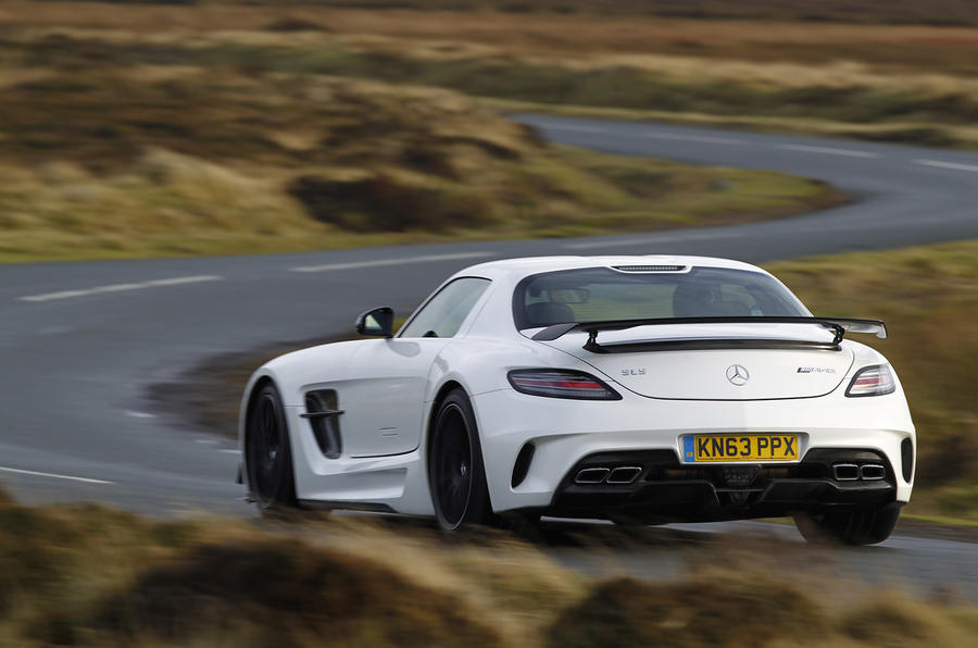 Mercedes-AMG SLS Black Series rear cornering