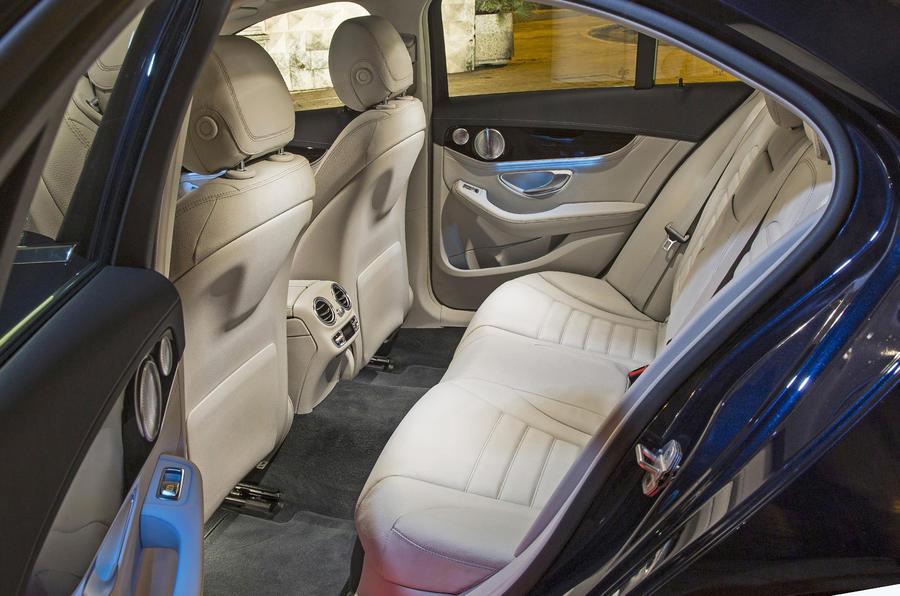 Mercedes-Benz C 250 rear seats