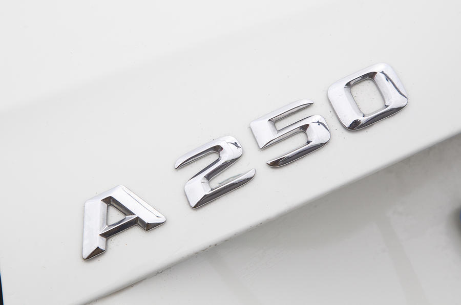 Mercedes-Benz A 250 badging