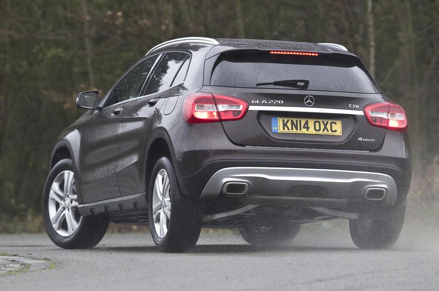 Mercedes-Benz GLA rear cornering