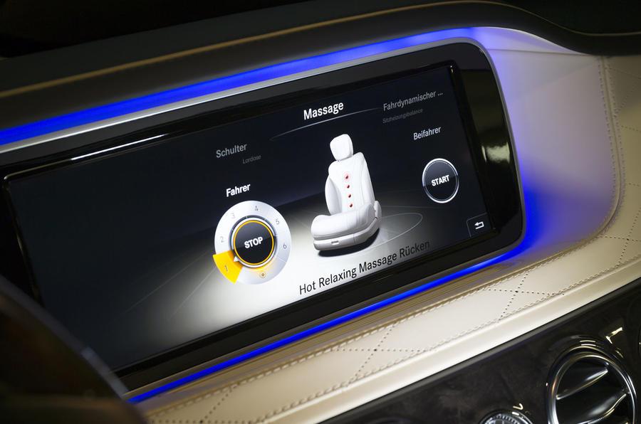 Mercedes-Benz S 500 L massaging seats controls