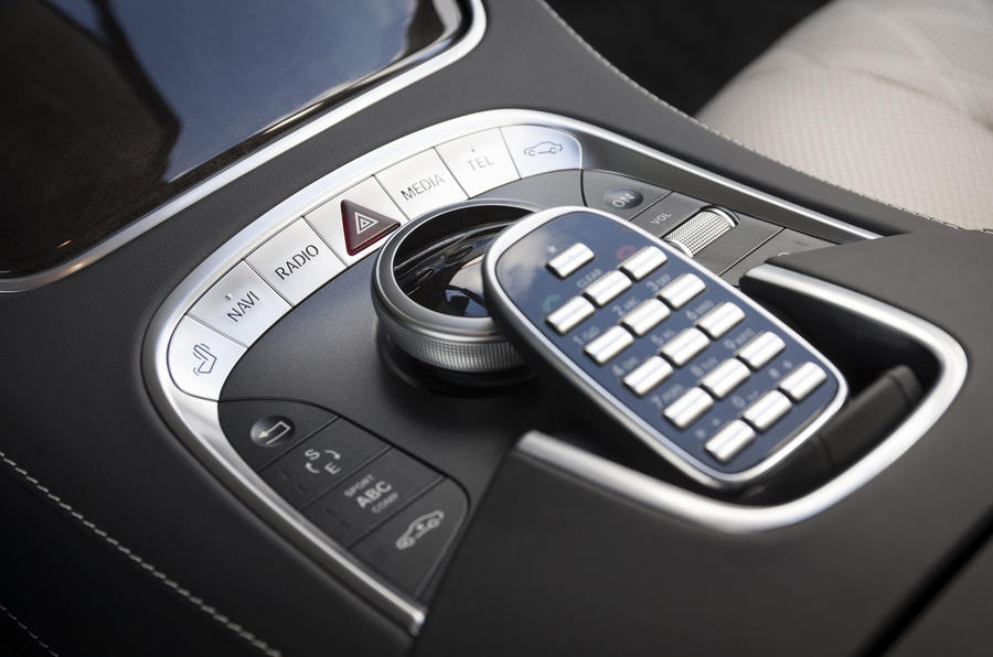 Mercedes-Benz S 500 L infotainment controllers