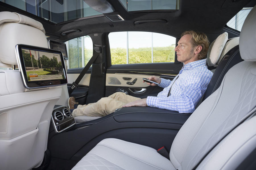 Sat in the rear of the Mercedes-Benz S 500 L