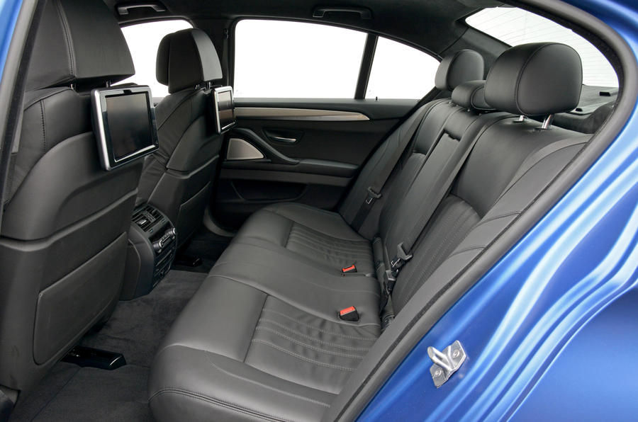 BMW M5 Competition Package rear seats