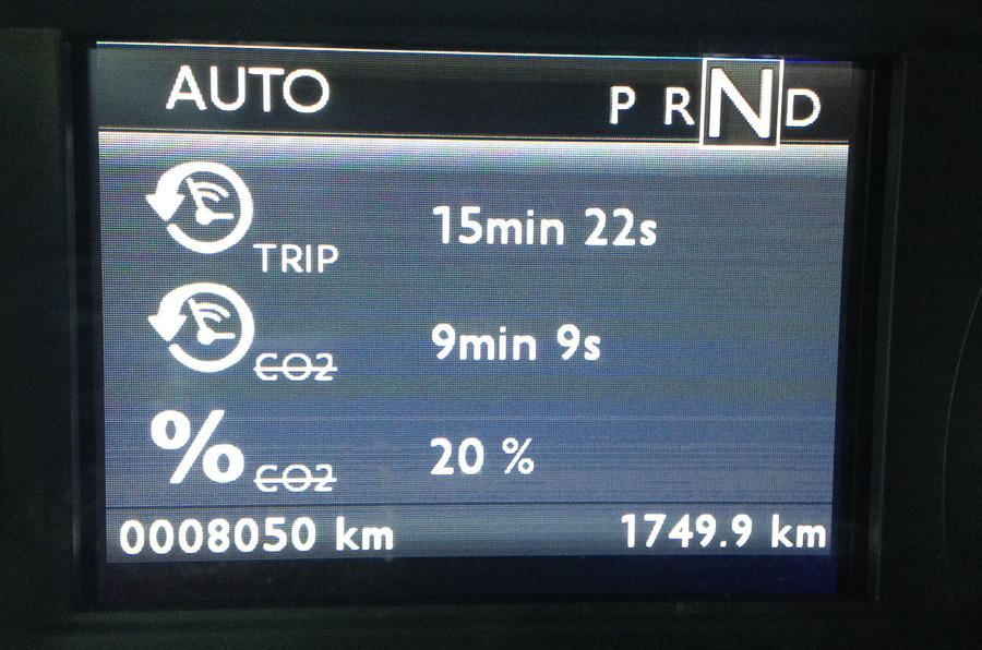Peugeot 2008 Hybrid Air prototype information screen