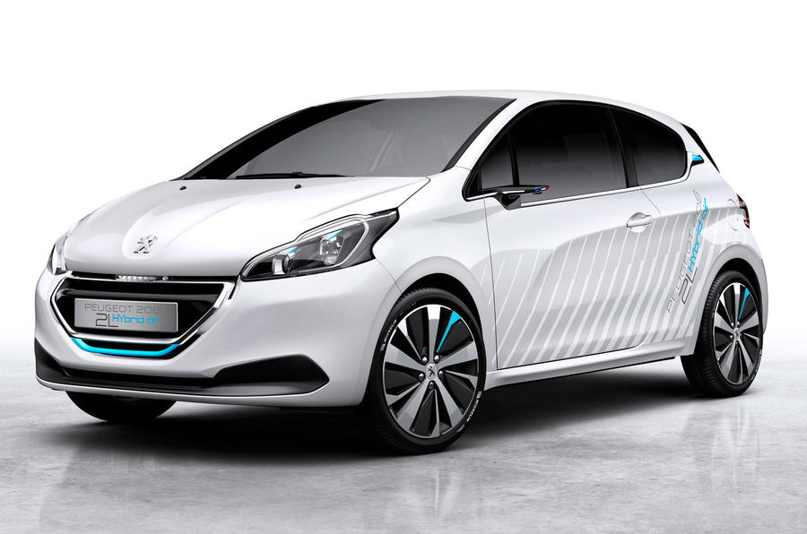 Peugeot reveals new 208 Hybrid Air concept at Paris