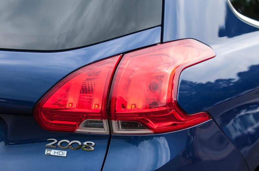 Peugeot 2008 rear lights