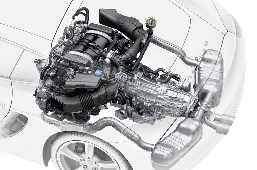 low-slung engine