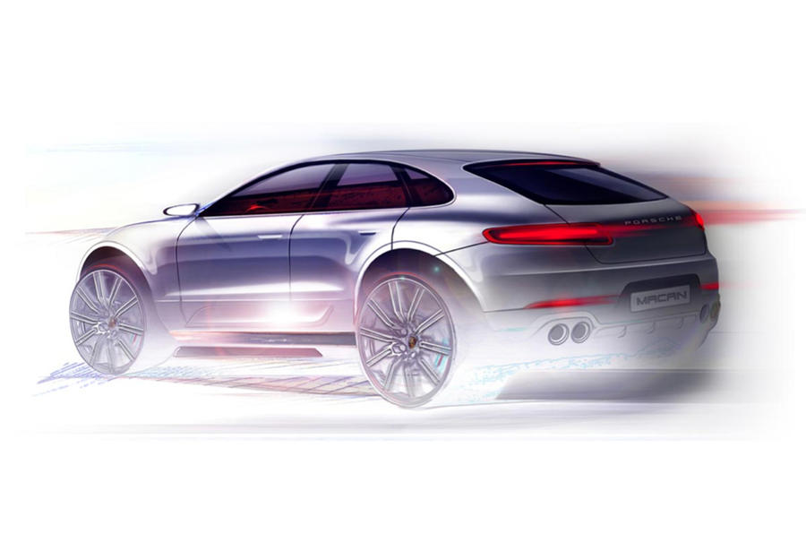 Porsche Macan teased ahead of LA Motor Show debut