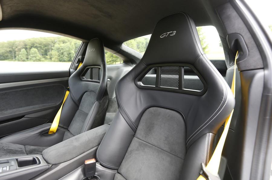 Porsche 911 GT3 sport seats