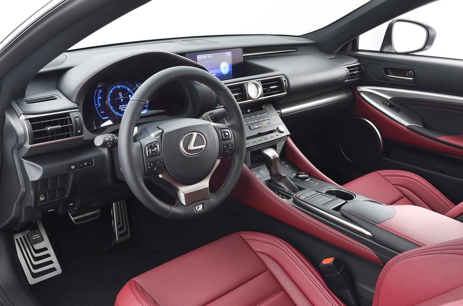 Lexus to show new rc300h f sport in geneva autocar for Lexus rx 350 f sport red interior
