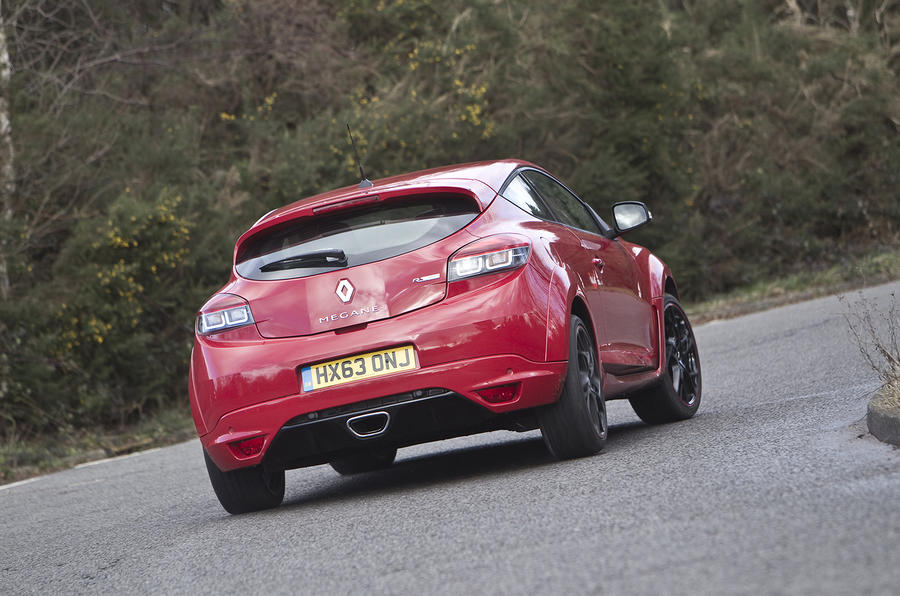 Renault Megane RS rear cornering