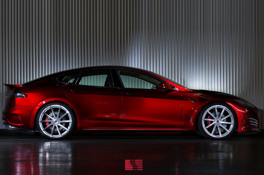 Saleen unveils performance electric vehicle based on Tesla Model S