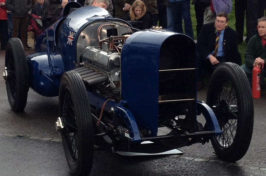 The 350bhp record-breaking Bluebird rides again at Beaulieu