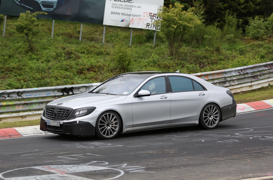 S63 AMG spied testing in Germany