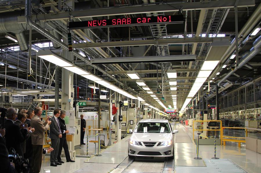 New Saab 9-3 production starts