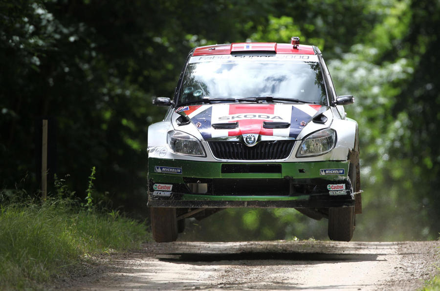 Skoda takes on the rally stage at the Goodwood Festival of Speed