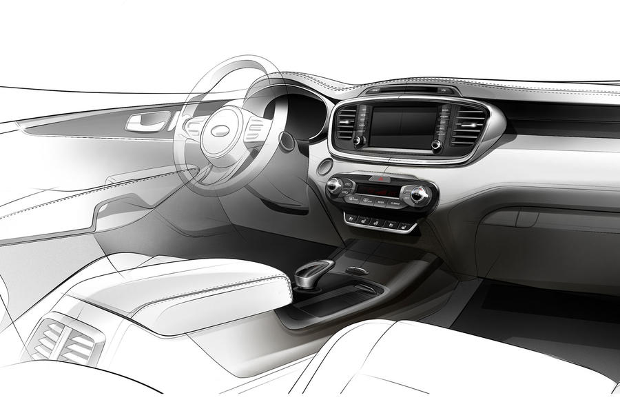 New Kia Sorento interior previewed