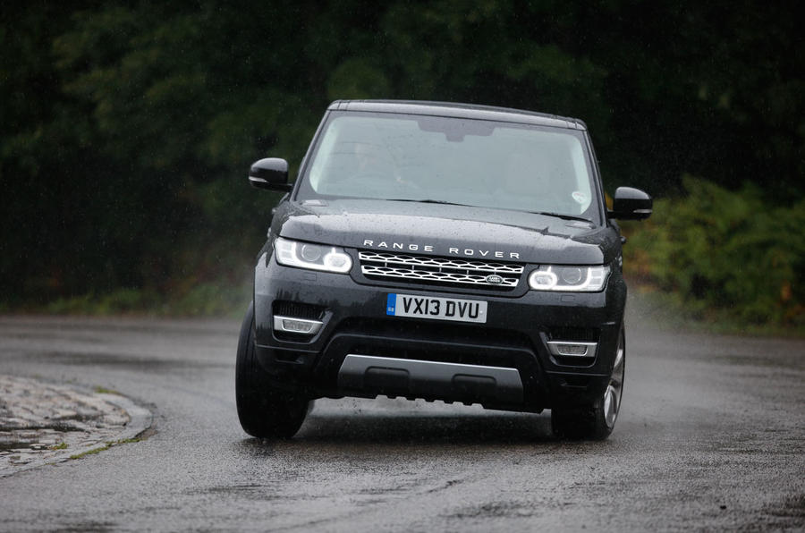 Range Rover Sport hard cornering