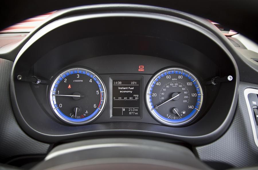 Suzuki S-Cross instrument cluster