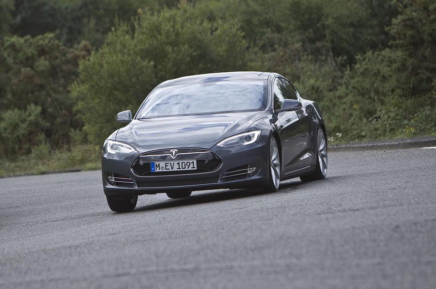 Tesla Model S hard cornering