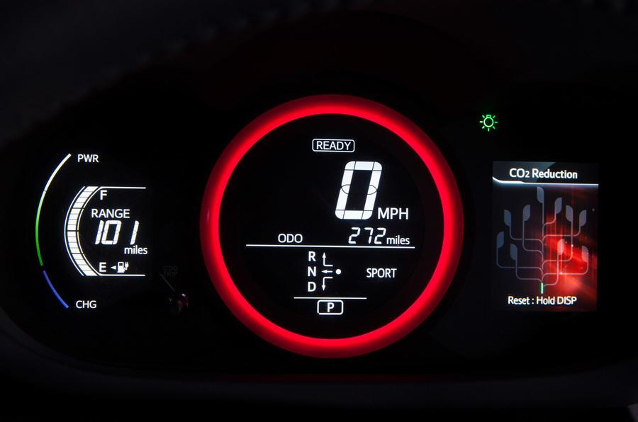 Toyota RAV4 EV instrument cluster