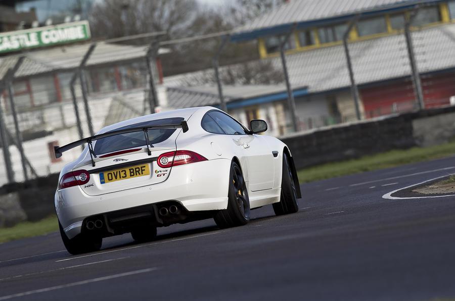 Jaguar XKR-S GT cornering