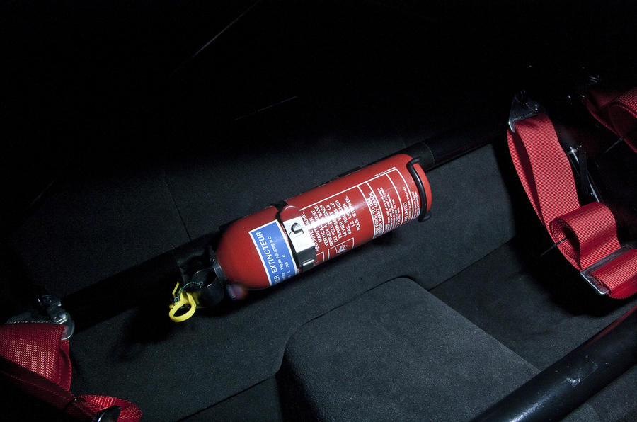 Jaguar XKR-S GT fire extinguisher
