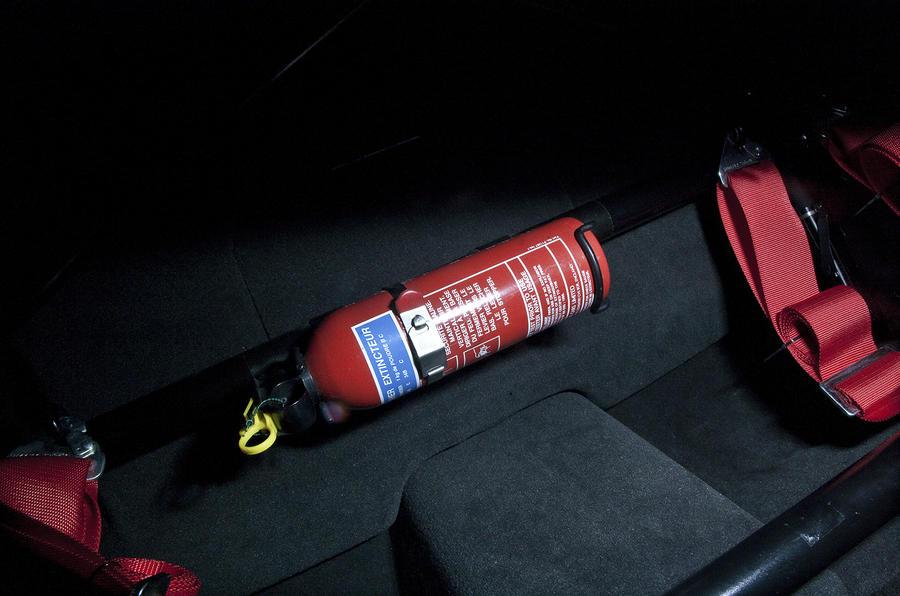 Jaguar XKR-S GT fire extinguisher
