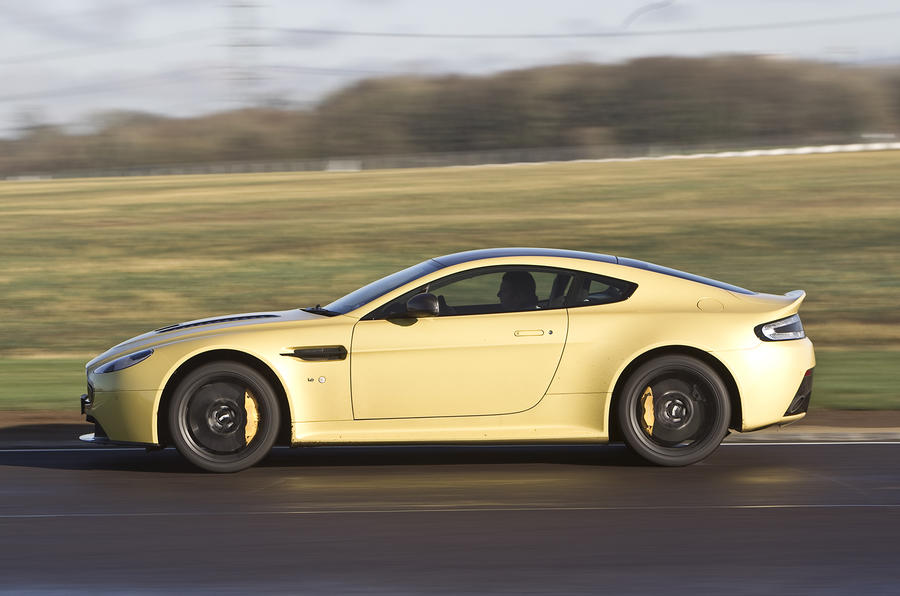V12 Vantage S's double wishbone suspension