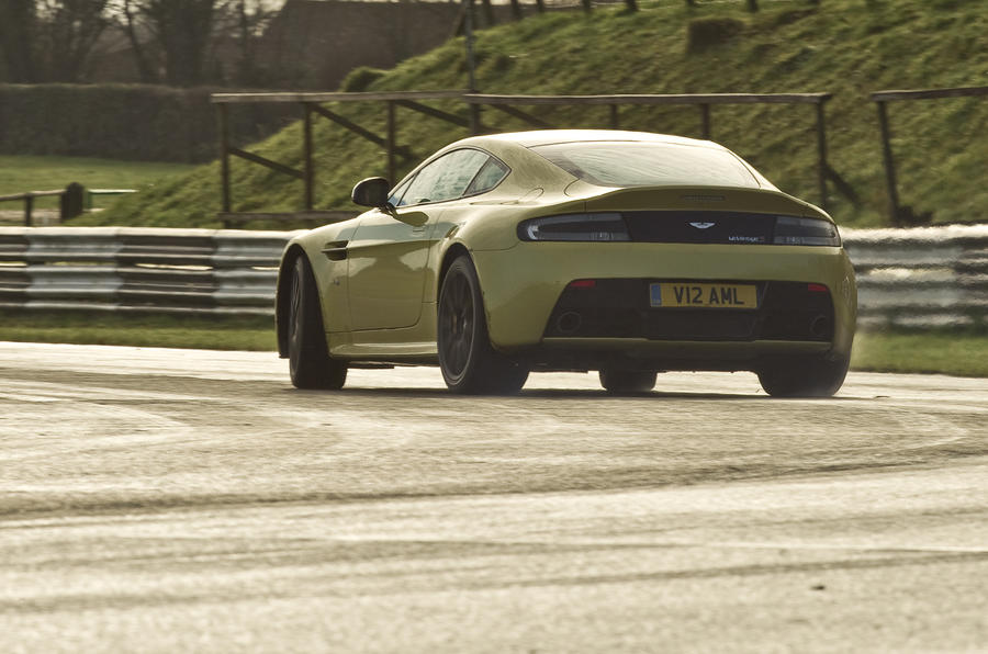 The sporty Aston Martin V12 Vantage S