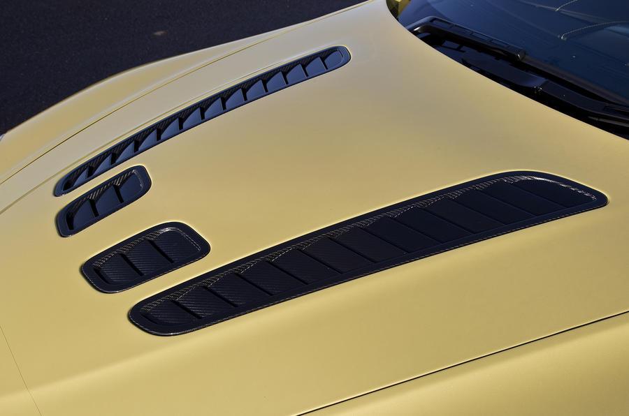 V12 Vantage S's bonnet vents