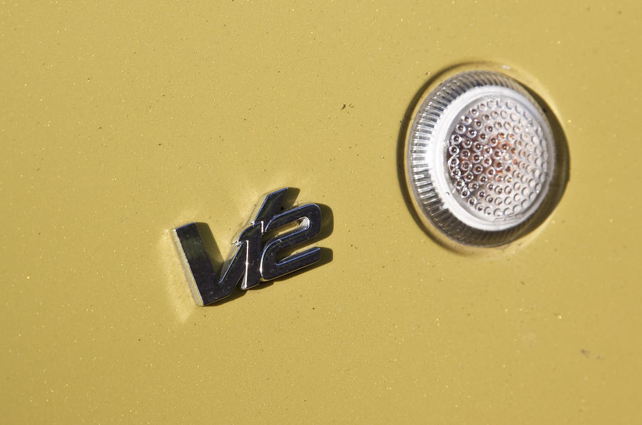 Aston Martin V12 badging