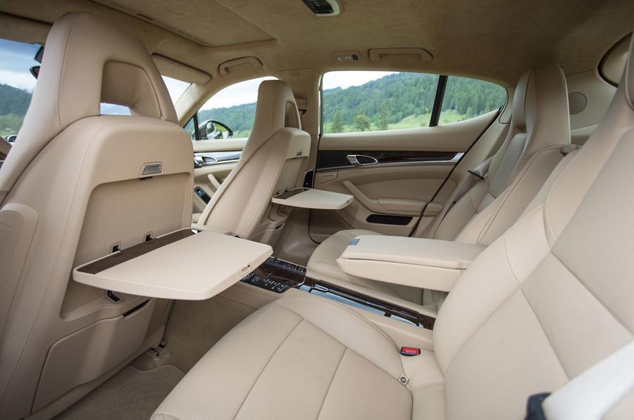 Porsche Panamera S rear seats