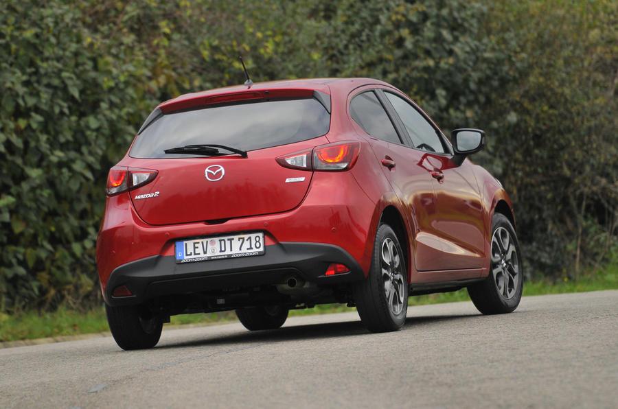 Mazda 2 rear cornering