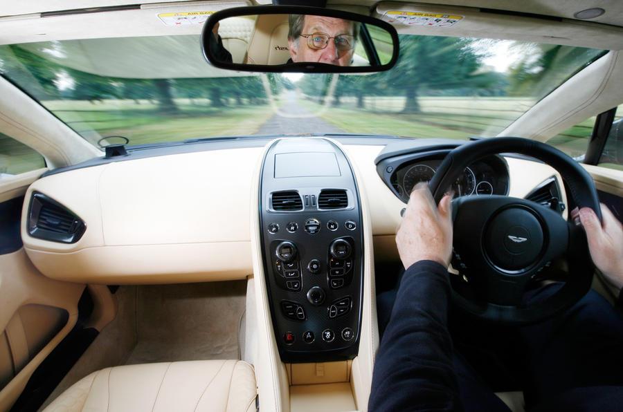 Aston Martin Vanquish's driving seat