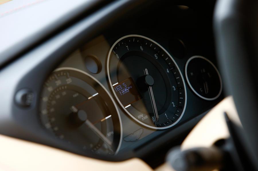 Aston Martin Vanquish instrument cluster