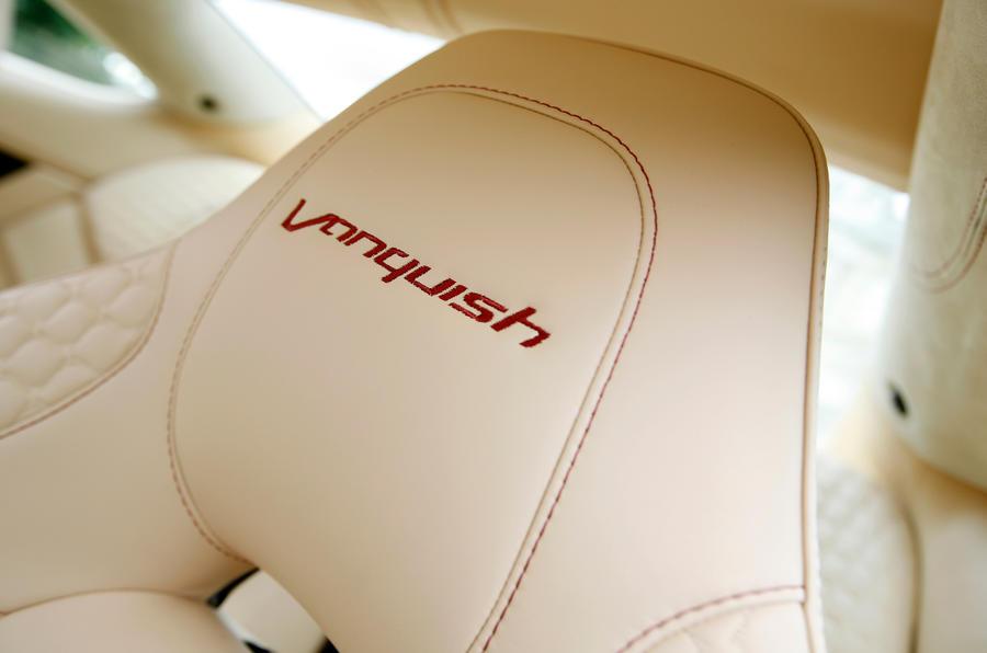 Vanquish stitched front seats