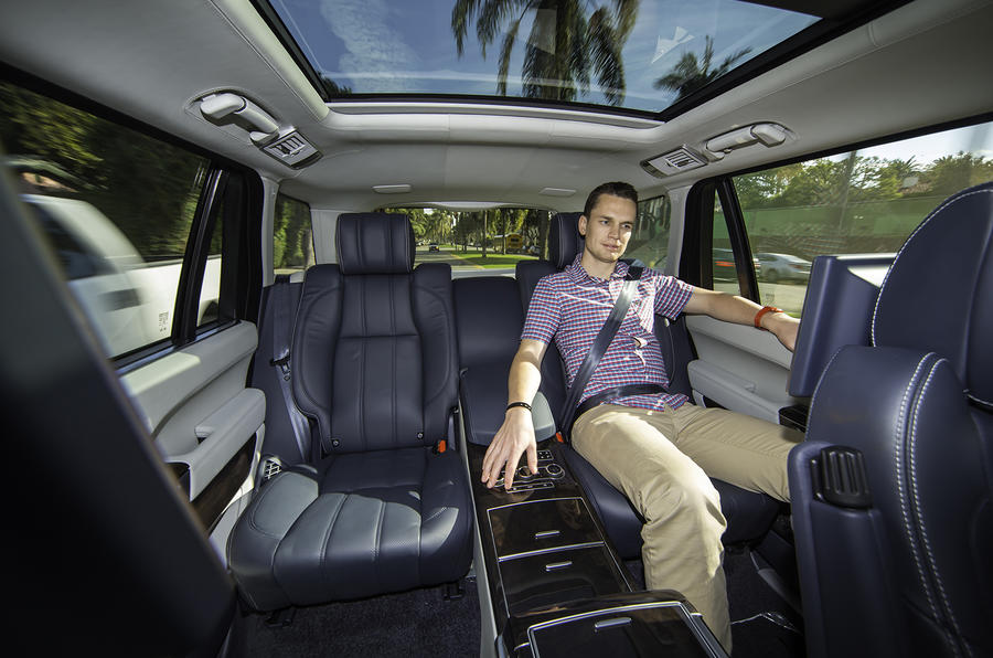 Relaxing in the Range Rover LWB