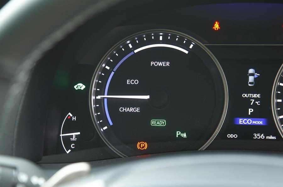 Lexus GS300h eco monitor
