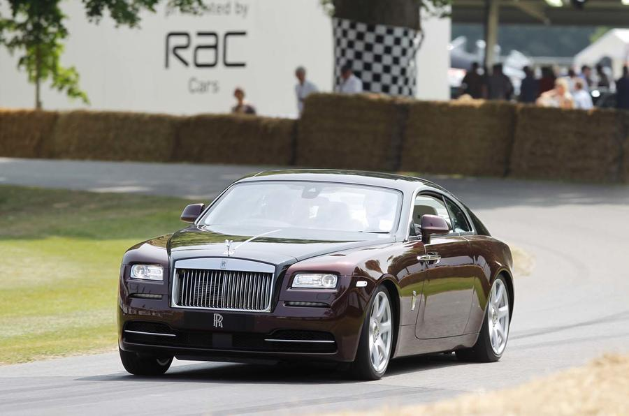 Rolls-Royce Wraith in action at Goodwood