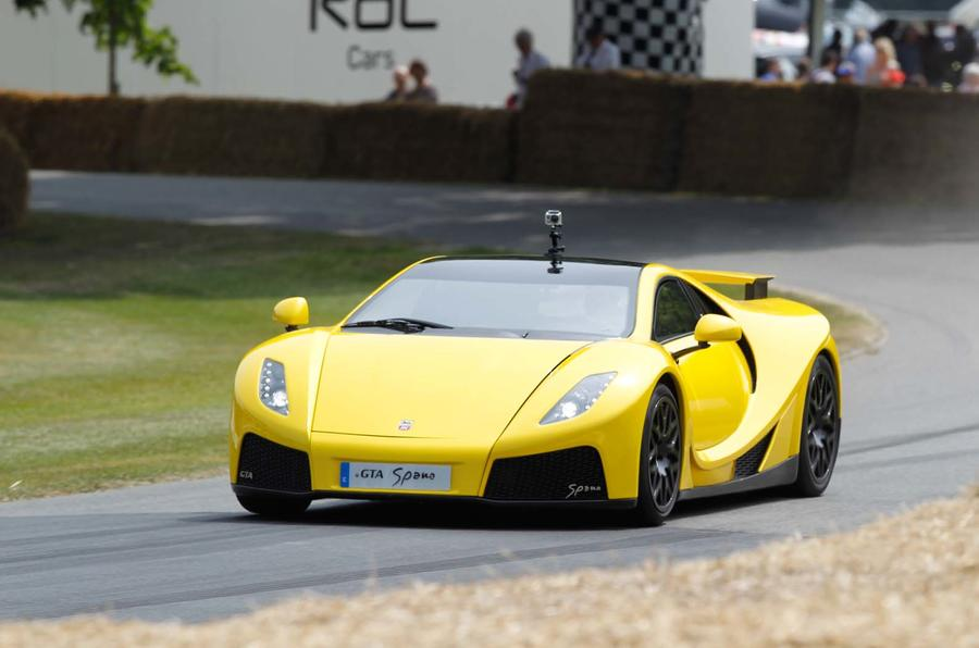 Production-spec GTA Spano shown
