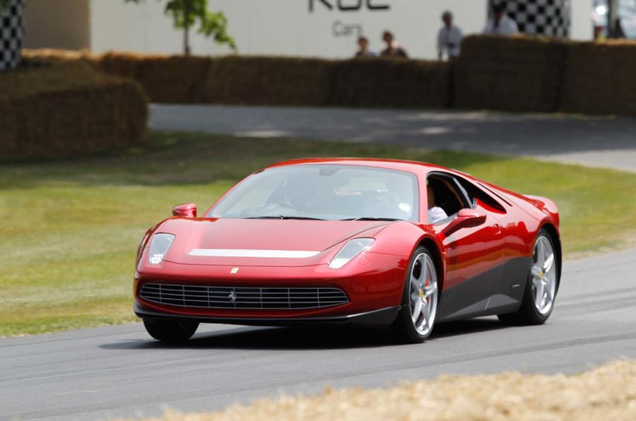 Eric Clapton displays one-off Ferrari SP12 EC at Goodwood